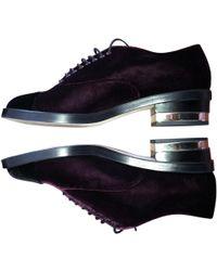 Chanel - Velvet Lace Ups - Lyst