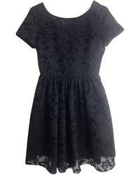 Maje Robe en Polyester Noir - Multicolore