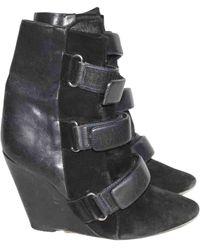 Isabel Marant Botas en piel de potro de imitación negro