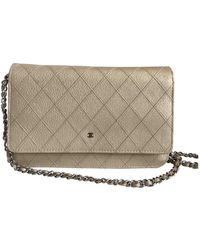 Chanel Wallet On Chain Leder Clutches - Natur