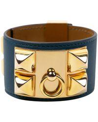 Hermès - Collier De Chien Leather Bracelet - Lyst