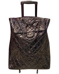 Chanel Leather 24h Bag - Black