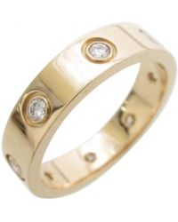 Cartier - Pre-owned Love Pink Gold Ring - Lyst