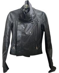 Rick Owens Leather Biker Jacket - Black