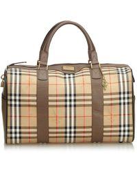 Burberry Brown Cloth Handbag