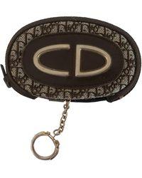 Dior Brown Cloth Purse/wallet