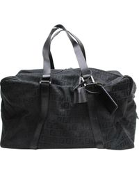 Fendi Black Cloth Travel Bag