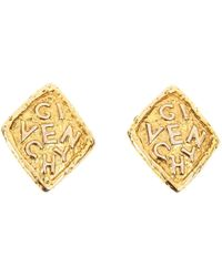 Givenchy - Vintage Gold Metal Earrings - Lyst