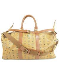 MCM Boston Travel Bag - Brown