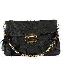 Nina Ricci Black Cloth Clutch Bag