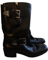 Michael Kors Leather Boots - Black