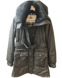 Burberry Black Fur Coat