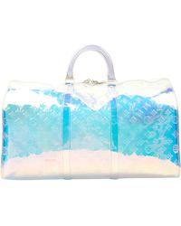 Louis Vuitton Sac Keepall en Plastique Multicolore - Bleu