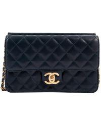 Chanel Timeless Leder Cross Body Tashe - Blau