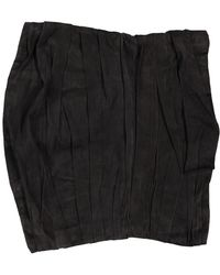 Ralph Lauren Collection Camisa en ante gris