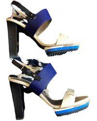 Lanvin Leather Sandals - Blue