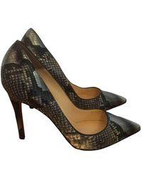 Christian Louboutin So Kate Metallic Python Heels - Multicolour