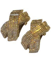 Dior Orecchini in metallo dorato - Metallizzato