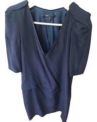 Maje Robe en Soie Violet - Multicolore