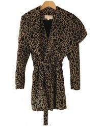 Michael Kors Faux Fur Coat - Multicolour