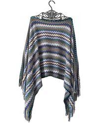 Missoni Wool Poncho - Multicolour