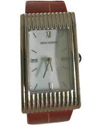Boucheron Reflet Weißgold Uhren - Rot