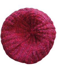 Chanel Cappelli in cachemire bordeaux - Rosso