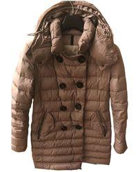 Moncler - Khaki Synthetic Coats - Lyst
