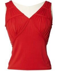 Dior Red Synthetic Top