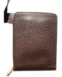 Louis Vuitton Burgundy Leather Small Bag Wallet & Case - Multicolour