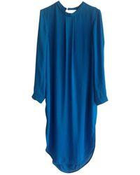 By Malene Birger Robe en Polyester Bleu