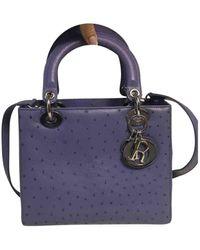Dior Lady Vogelstrauß Handtaschen - Lila