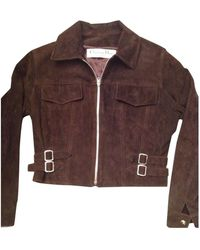 Dior Brown Suede Leather Jacket