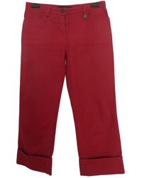 Louis Vuitton Red Cotton Trousers