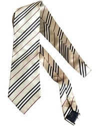 Burberry Beige Synthetic Tie - Natural