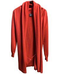 Ferragamo - Red Wool - Lyst