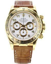 Rolex Daytona Yellow Gold Watch - White