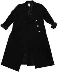 Chanel Mantel en Laine Noir