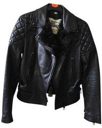 Burberry Shearling Biker Jacket - Black
