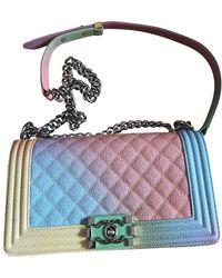 Chanel Boy Leder Handtaschen - Mehrfarbig