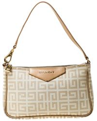 Givenchy Leinen Clutches - Natur