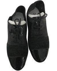 Repetto Black Suede Lace Ups