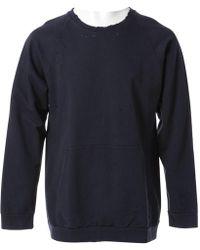 Balmain - Blue Cotton Knitwear & Sweatshirt - Lyst