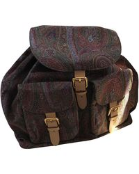 Etro Leather Backpack - Multicolor