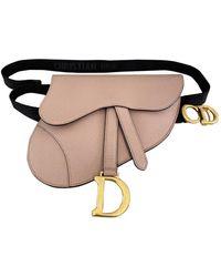 Dior Bolsa clutch en cuero beige Saddle - Neutro