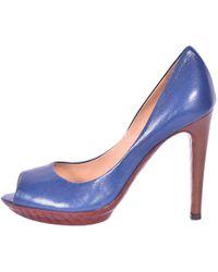 Bottega Veneta - Blue Leather - Lyst