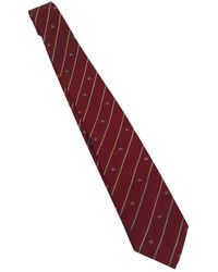 Burberry Silk Tie - Red