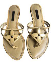 Louis Vuitton Chanclas de Cuero - Amarillo