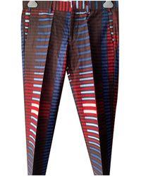 Stella Jean Pantalons en Coton Multicolore