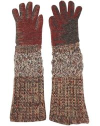 Missoni Wool Long Gloves - Multicolor